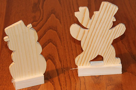 Scroll Saw Snowmen Pic